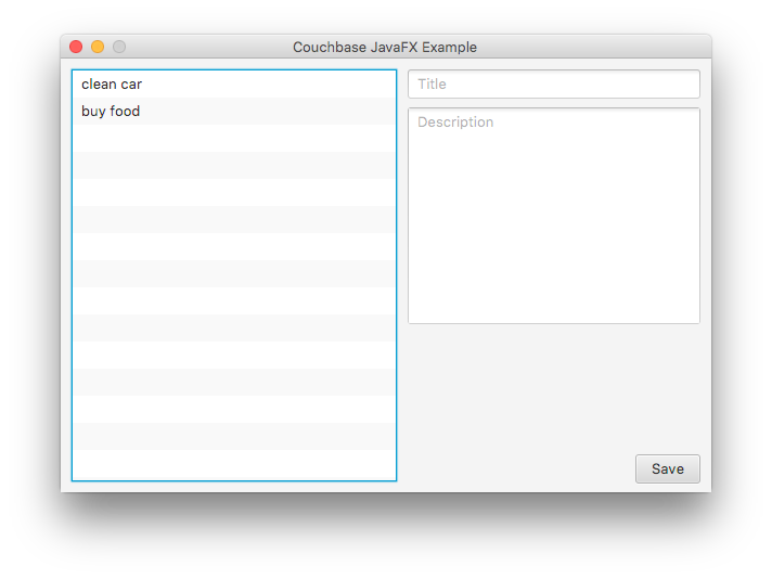 Using Couchbase in a JavaFX Desktop Application The Couchbase Blog