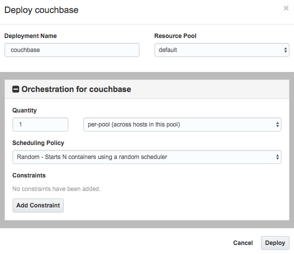 Oracle Cloud Deploy Couchbase