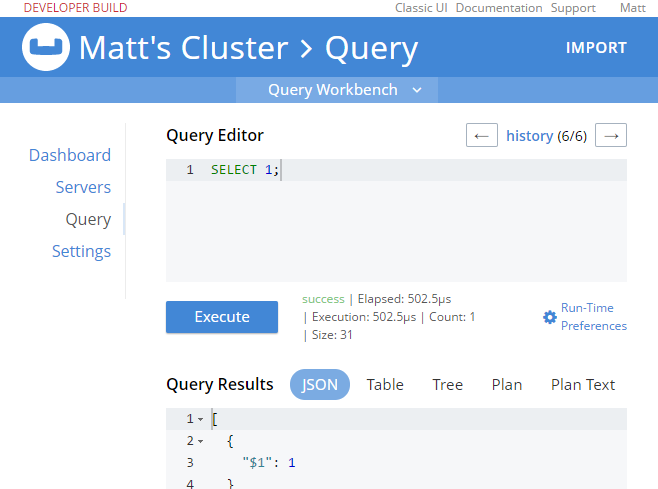 Execute SELECT query logged in with only Query authorization
