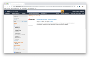 AWS Container Marketplace front page