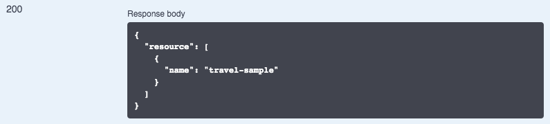 Example of a response from an API endpoint